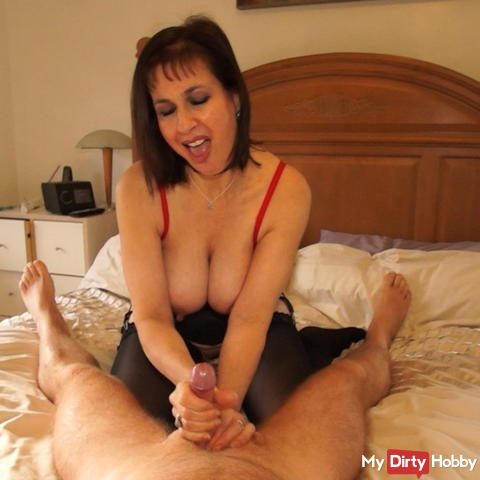 Sucking and bouncing on a cock