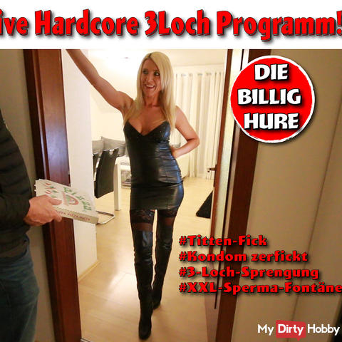 All inclusive hardcore 3 hole program with the cheap whore!