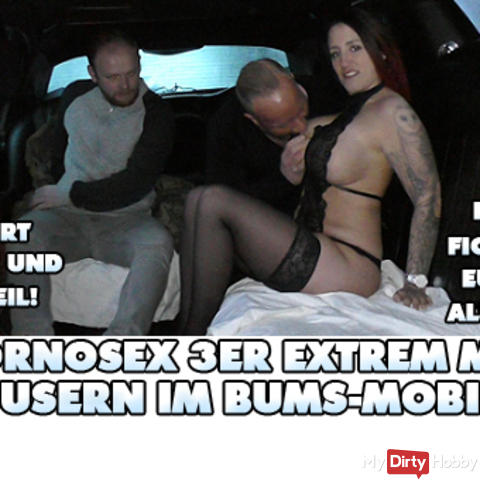 Pornsex extreme with 2 users in the bum mobile!