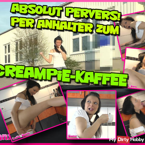 Absolutely perverse! Hitchhiking to Creampie-Coffee