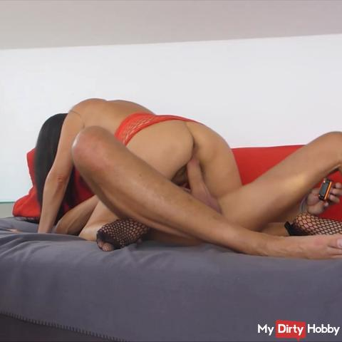Horny dirty with a fan in front of the webcam, Part 3