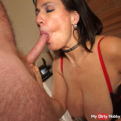 Giving a cock a good sucking before it fucks me