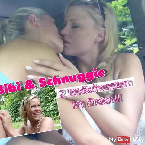 Bibi und Schnuggie!! Geschwisterliebe im Freien!!!