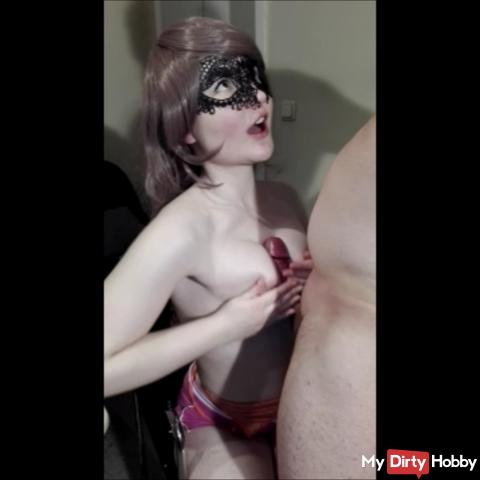 Titty fuck, cream waxed from the tail!