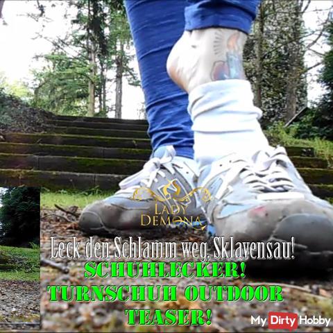 Shoe Yummy! Leak the mud away, slaves! | By Lady_Demona