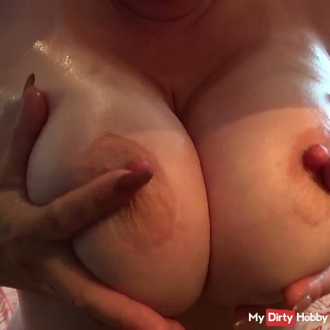 oiled large natural breasts .....