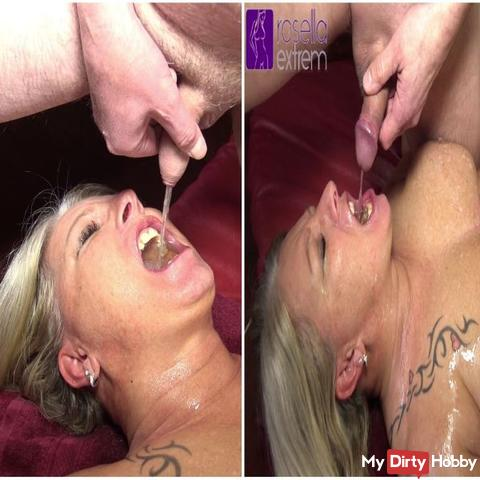 My GangBang in Holland, in an Erotic Cafe! Part 11! 2 users pissed me extremely in the mouth!