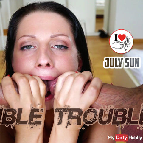 """Double trouble"" in her mouth!"