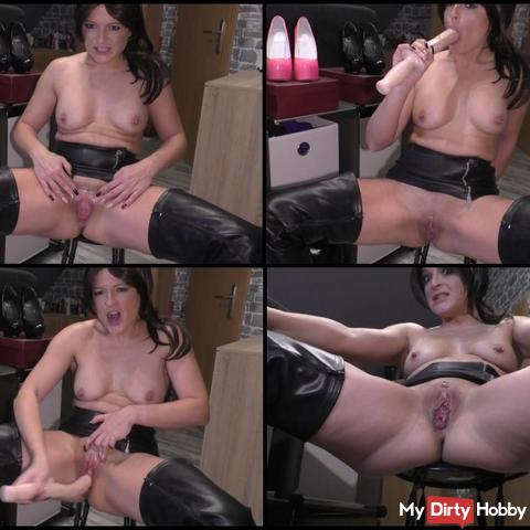 horny leather whore boots ...