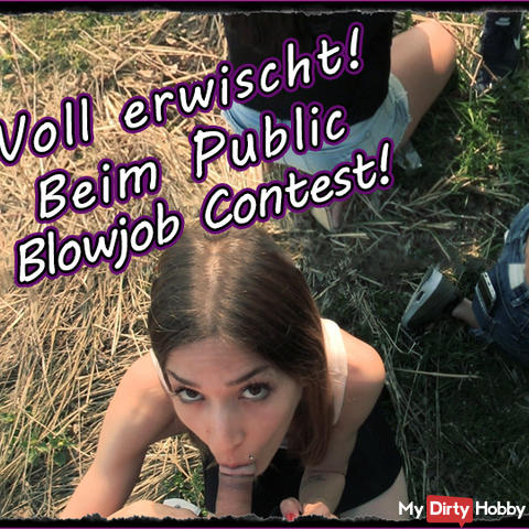 WTF !!! Getting caught during our public blowjob contest!