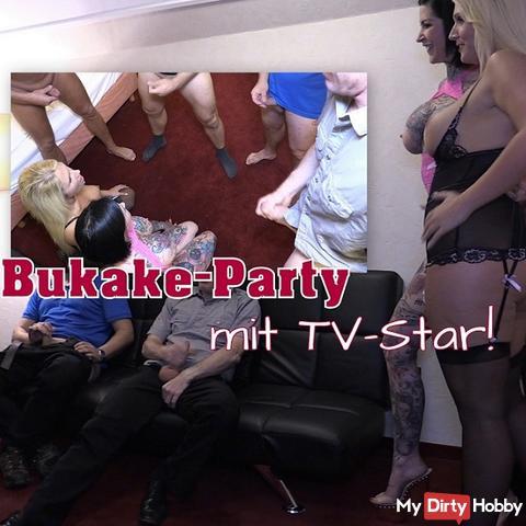 Bukake-Party mit TV-Star!