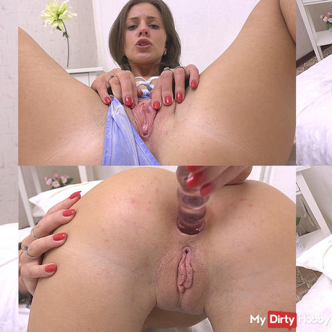 My first anal orgasm from sex toy and fingers. Full version