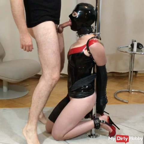 Bupshi - latex slave slut bound and fucked