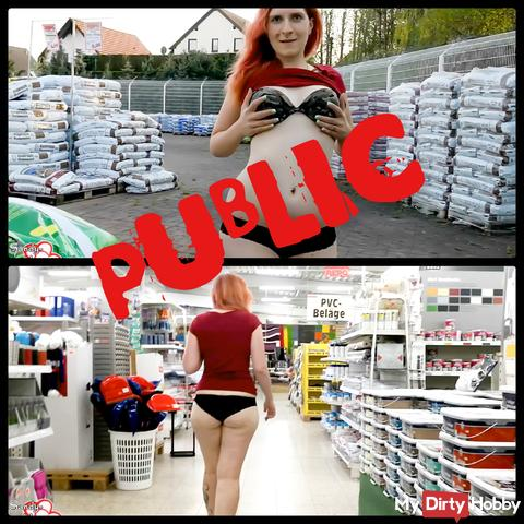 Mega - Public: In underpants by the store I Sandy_Heart