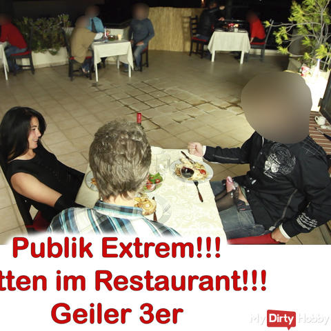 Public XXL! After Work Fuck in the restaurant 2 cocks, sprayed 5x.