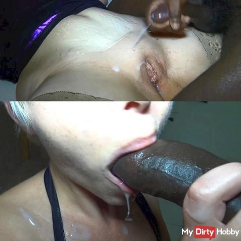 The sperm battle with Black Boys !!!