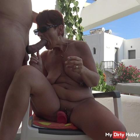 Naked on the terrace