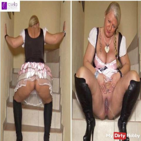 O`zapft is! Horny piss and more, in Dirndl!