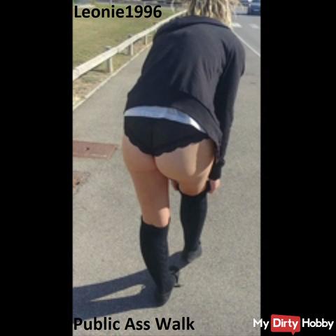 No pants through the industrial area. Part 1 of 2. (Public Ass Walk)