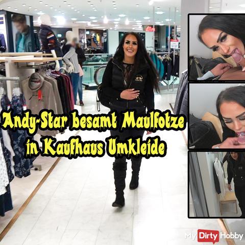 Andy Star inseminates Maulfotze in department store locker Cum