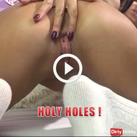 Holy holes ! Come and lick me until I cum in your mouth !