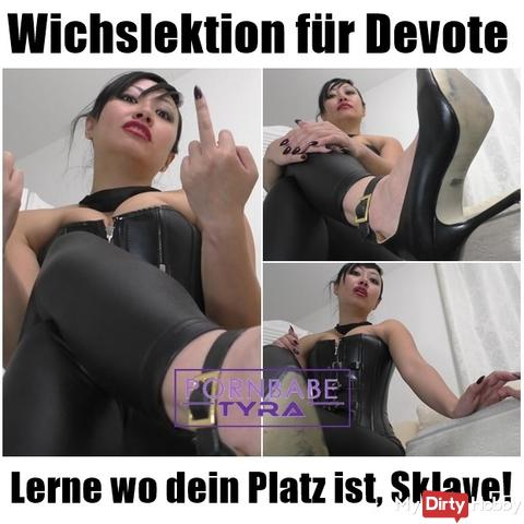 Wich Lesson for Devote - Learn where your place is, slave!