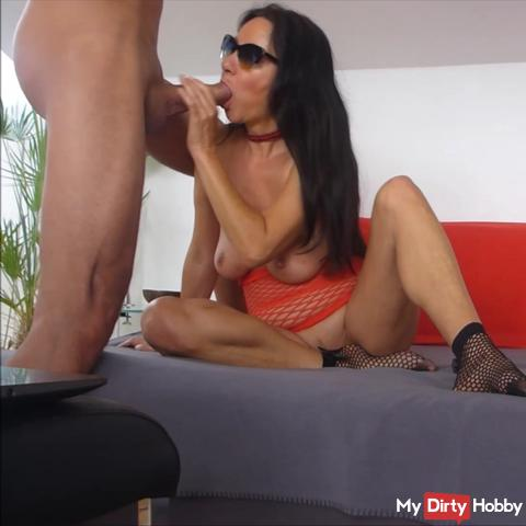Horny dirty with a fan in front of the webcam, Part 1