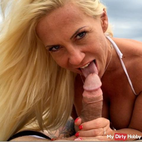 Horny cock on the lake hit, horny blown off and fucked with my big tits