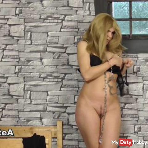 Blonde Rider Naked But In Riding Boots