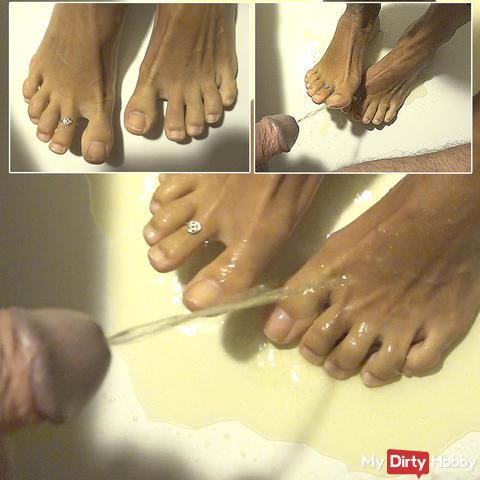 Washed the feet of my stepsister