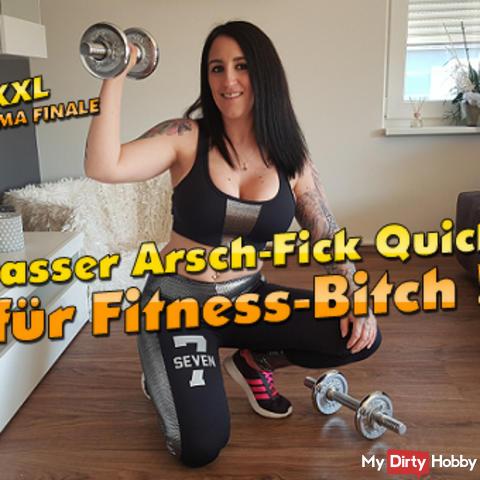 Krasser Arsch-Fick Quicky für Fitness-Bitch ! XXL Sperma Finale !!!