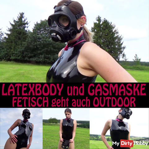 LATEXBODY and GASMASK FETISH works OUTDOOR too