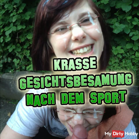 Krasse facial insemination after the sport