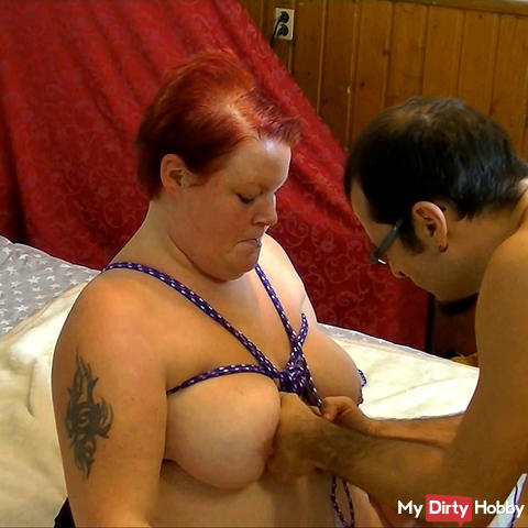 Bondage, tits and hands 1