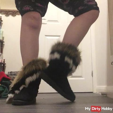 Arikajira Sexy Fluffy Boots Foot Fetish