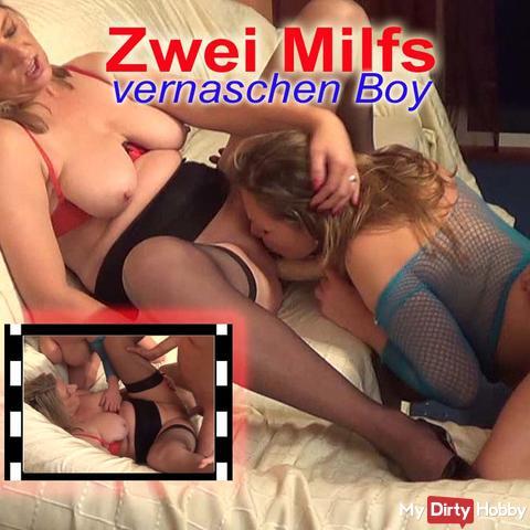 2 MILF's vernaschen Boy