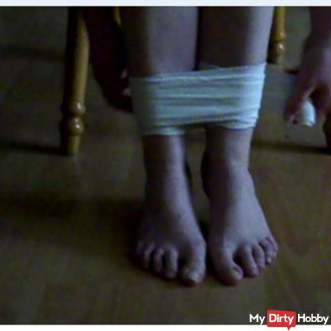 Bondage game with my feet desire video