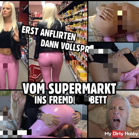 Public Latex Bitch | Vom Supermarkt ins Fremdfi** Bett