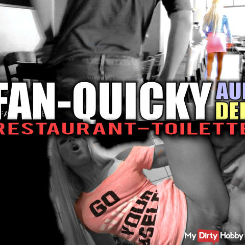 Fan Quickie on the restaurant toilet