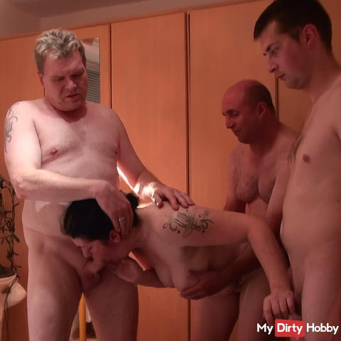 Gangbang pure fucking without condom + Squirting