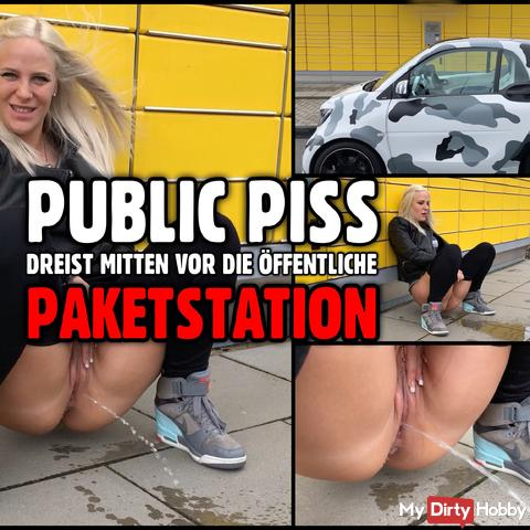 PUBLIC PISS | Urgent need in front of the parcel station