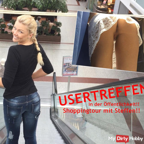 USERTREFFEN en public !! Shopping avec Steffen !!