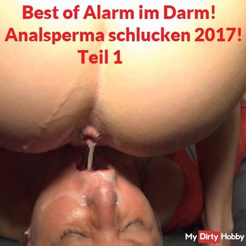 Best of alarm in the intestine! Analsperma swallow 2017! Part 1
