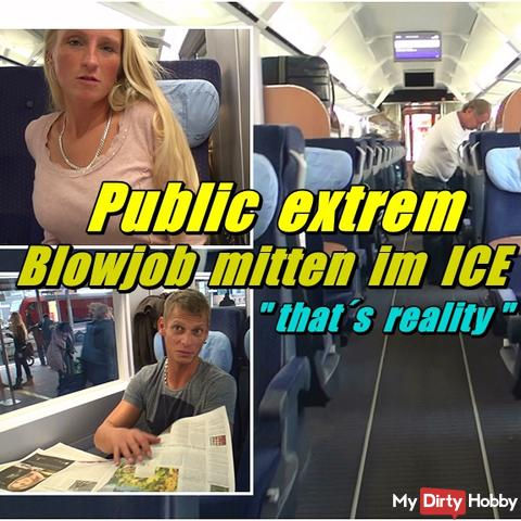 Public extreme - Blowjob middle at Train