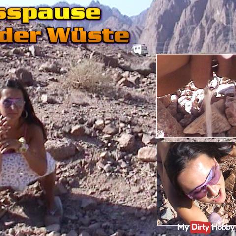 Piss break in the desert