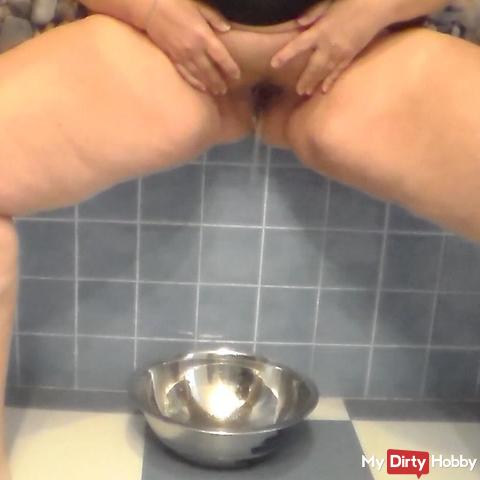 Pissing in a Bowl