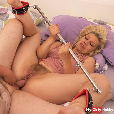 Tied up and splayed full in the ass