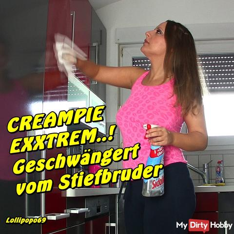 Creampie extreme! Wounded by stepbrother