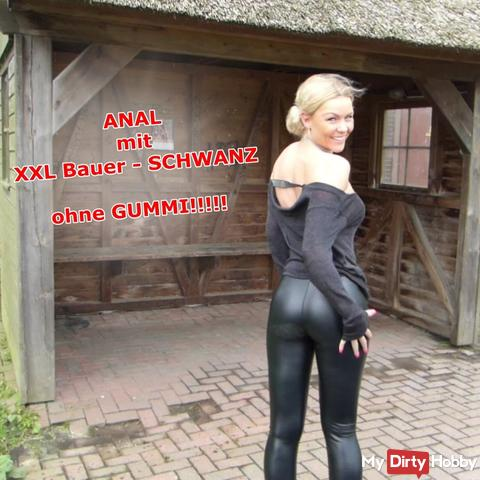 ANAL with XXL Bauer- TAIL !!! Without rubber!!!