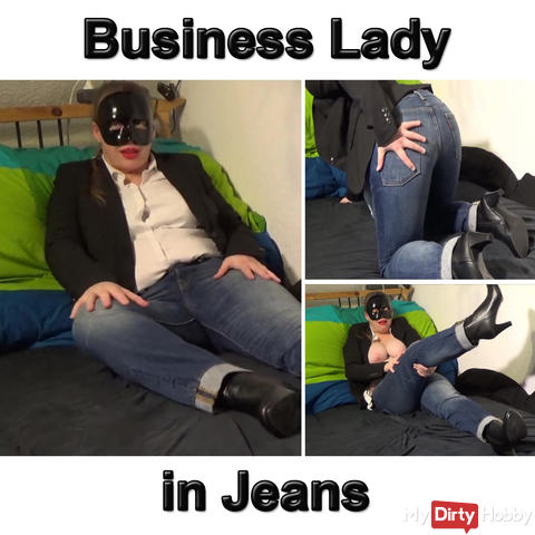 Business Lady in Jeans für dich